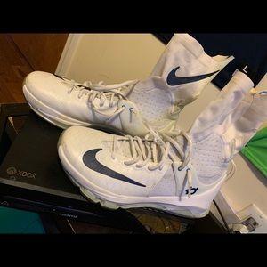 Nike KD 8 Elite White/White Navy Check